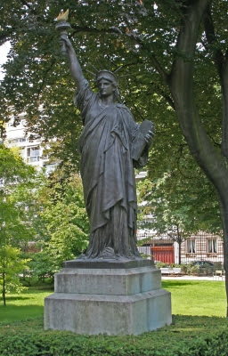 The Statue of Liberty in the Jardins du Luxembourg, Paris