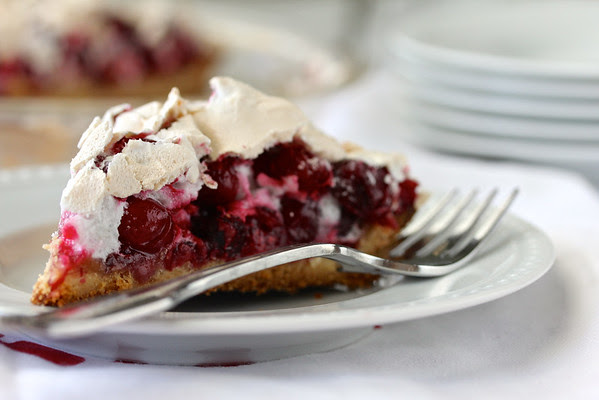 Cranberry Crackle Tart from Karen's Kitchen Stories