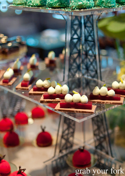 Berry desserts at the chocolate bar afternoon tea at The Langham Melbourne