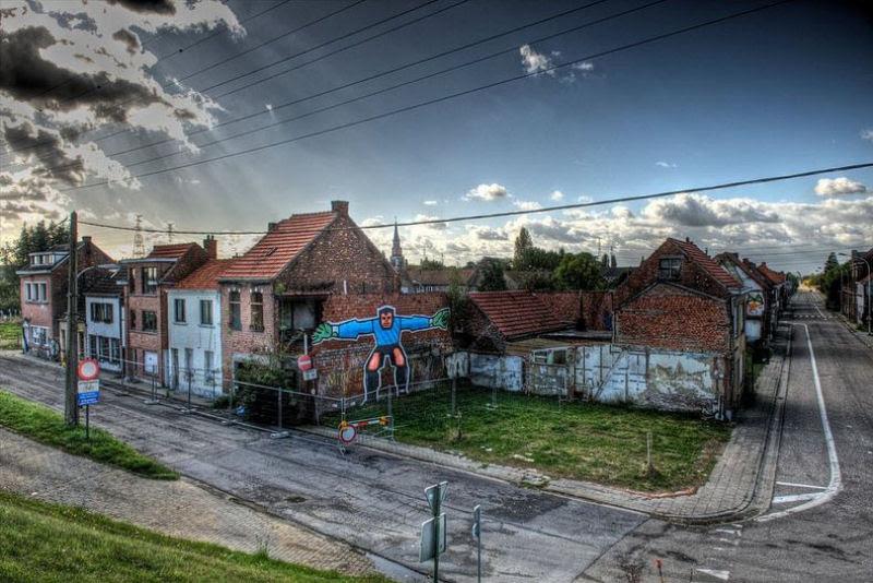 A vila condenada de Doel e sua arte de rua surpreendente 10