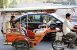 tuk-tuk transportation is easily available at Sisowath Quay, Phonm Penh, design travel pte ltd