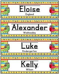 Name Plates Editable - Monkey Themed | Names, Plates and Name plates