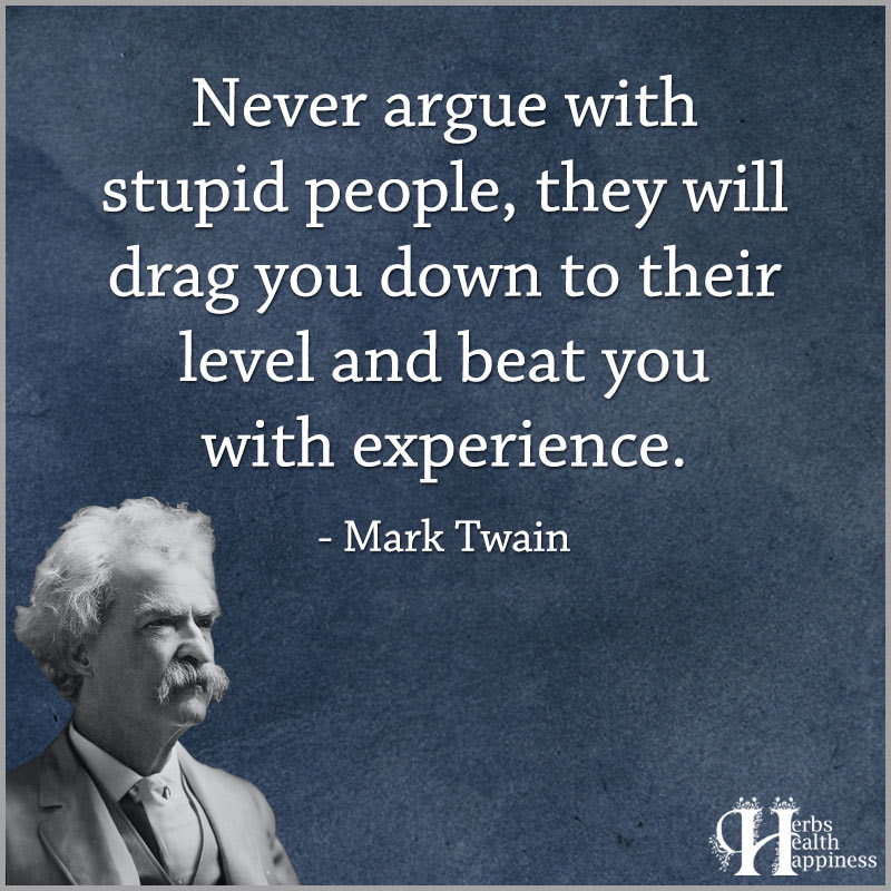 Never Argue With Stupid People ø Eminently Quotable Quotes