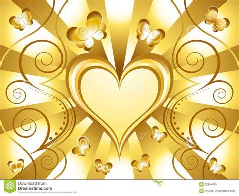 Gold Heart Holiday Background Stock Vector   Image: 22864810