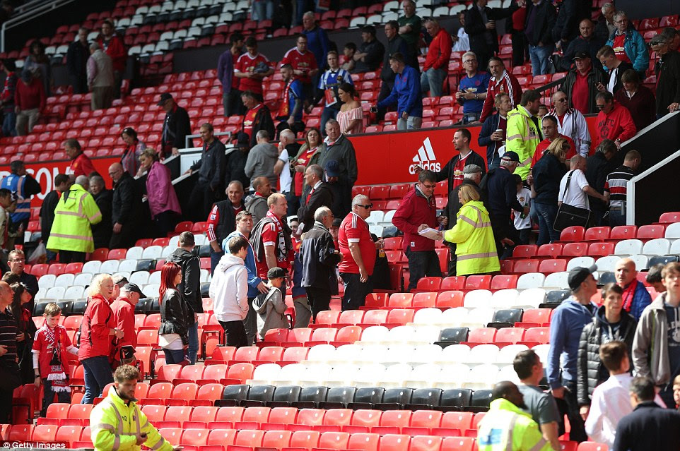 Kick-off at Old Trafford was delayed by 45 minutes due to the incident on the final day of the season and has now been cancelled