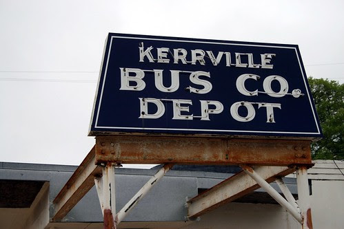 kerrville bus co. depot neon sign