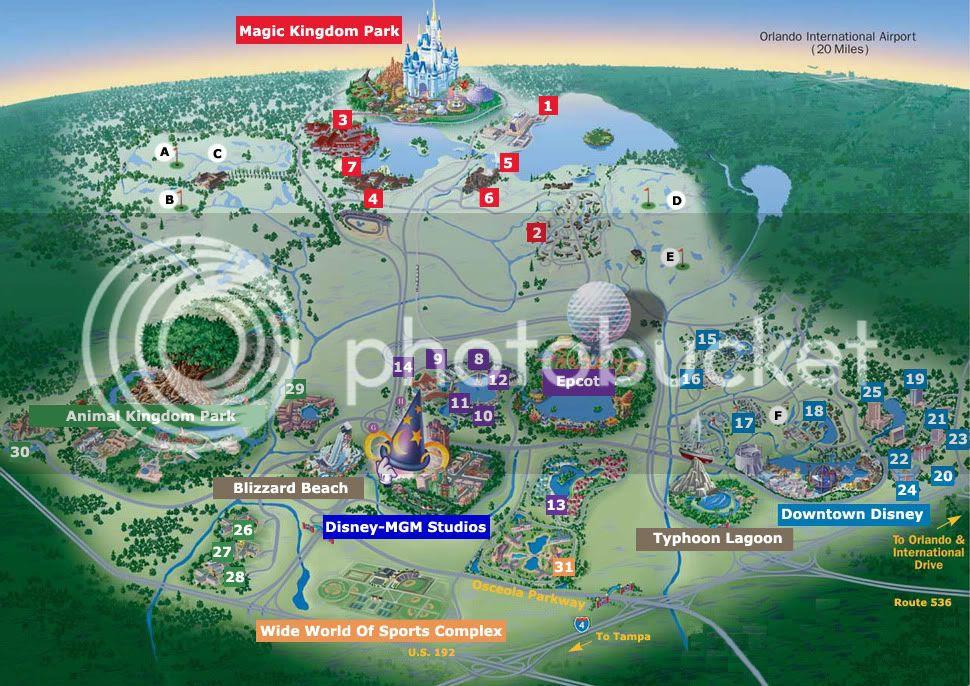 Disney World Map 2011. it does go to Disneyland.