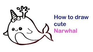 All Clip Of Unicorn Narwhal Drawing Bhclipcom