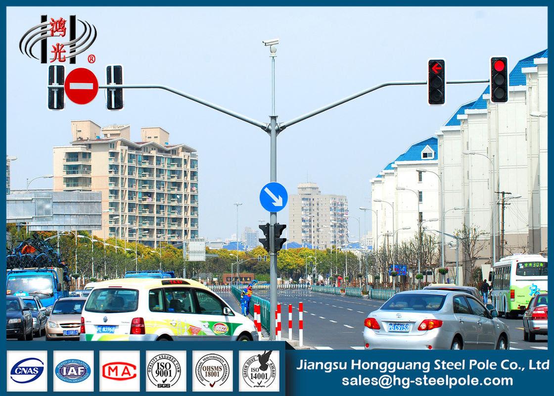 S355j2g3 Kırmızı Yeşil Otomatik Trafik Işığı Kutbu Trafik Işaret Kutusu
