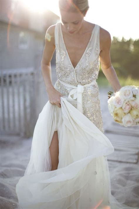 Stunning Wedding Dresses With Bling: Sequins, Metallics