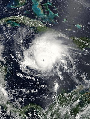 Hurricane Emily was spinning through the Carib...