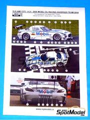 Reji Model: Calcas escala 1/24 - Mercedes Benz SLS AMG GT3 Mobil1 Oil Racing Zakspeed Team Nº 21 - Luca Ludwig (DE) + Alon Day (IL) - ADAC GT Masters 2014 - para kit de Fujimi FJ125695, FJ125657