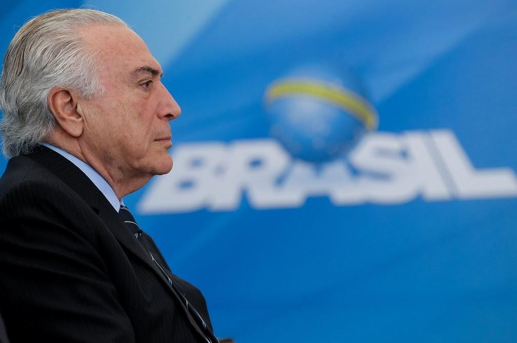 O presidente Michel Temer, em evento no Planalto no último dia 13 (Foto:  Beto Barata/PR)