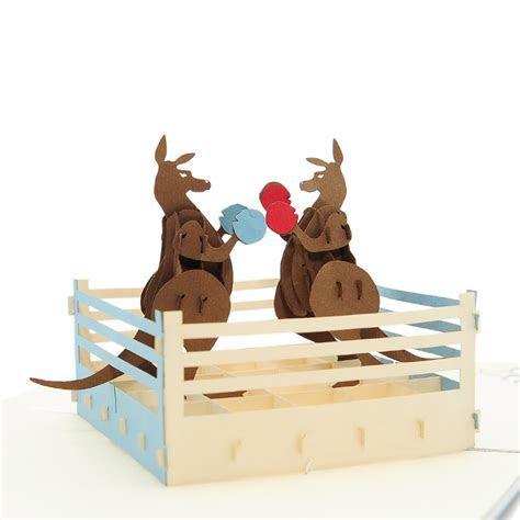 Boxing Kangaroo pop up card  Austalia pop up cards