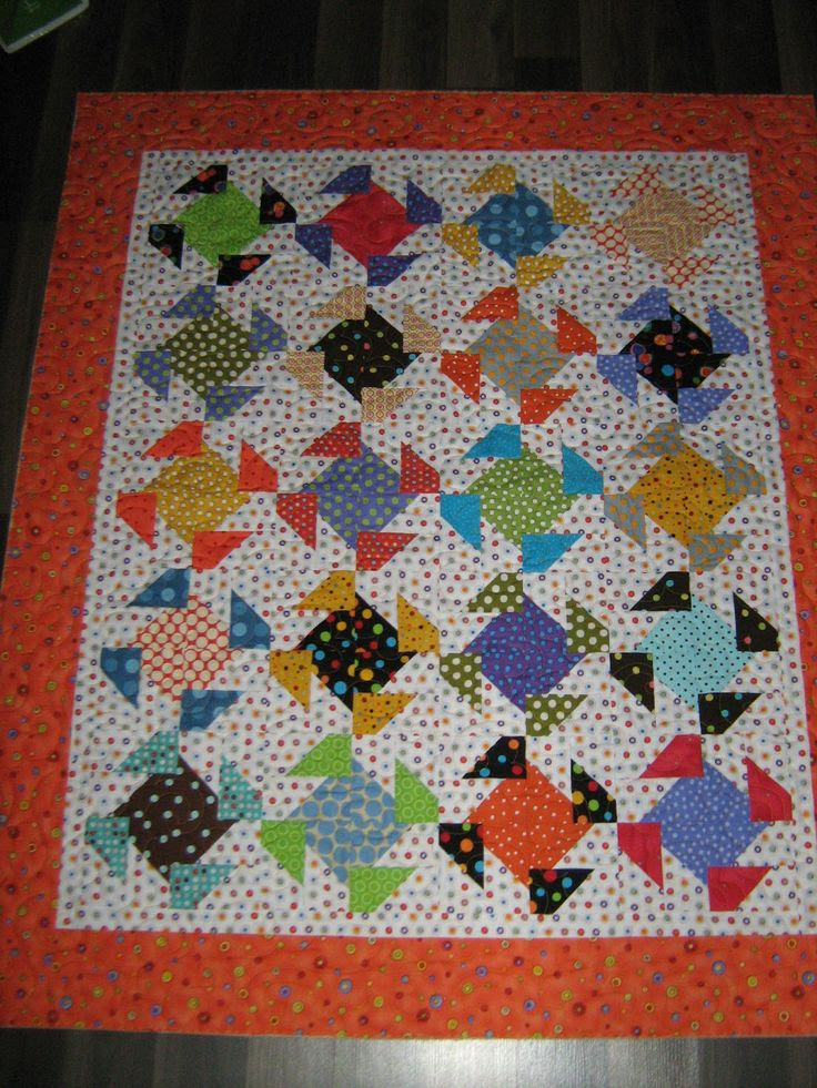 Inch by Inch Quilting: Polka Dot Quilt