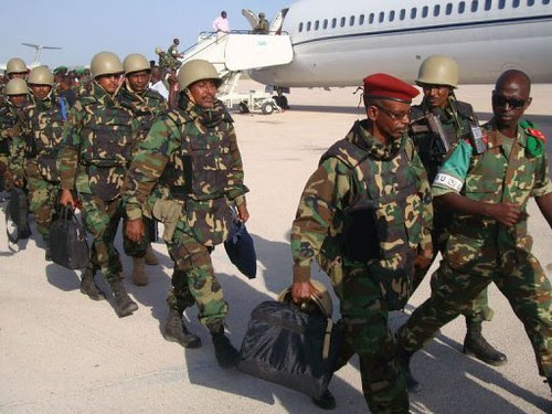 First contingent of Djibouti troops enter Somalia in a US-backed effort to liquidate the al-Shabaab Islamic resistance movement in the Horn of Africa state. The Pentagon and France have a military base in Djibouti at Camp Lemonier. by Pan-African News Wire File Photos
