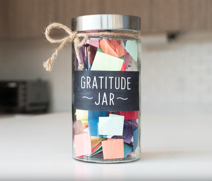 Gratitude Jars - Being grateful for the little things in your life.