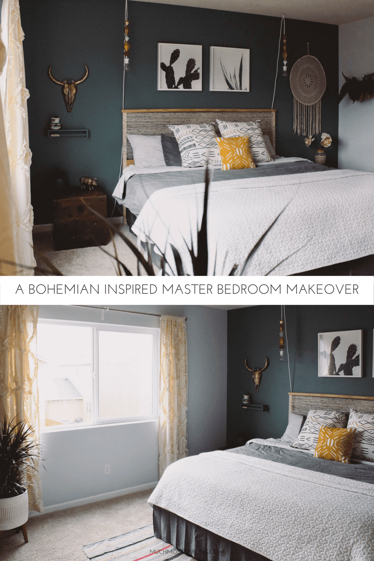Bohemian Greenery Inspired Master Bedroom Makeover Redo On