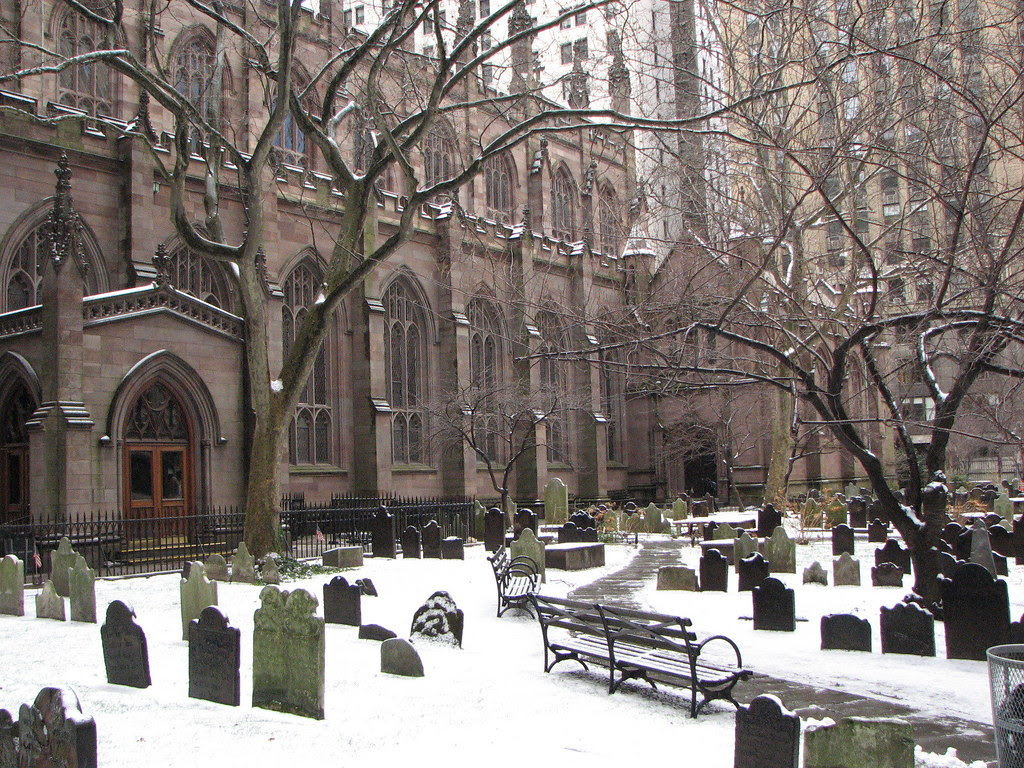The graveyard at the end of Wall Street