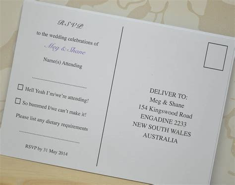 These simply elegant rsvp wedding postcards are ideal as a