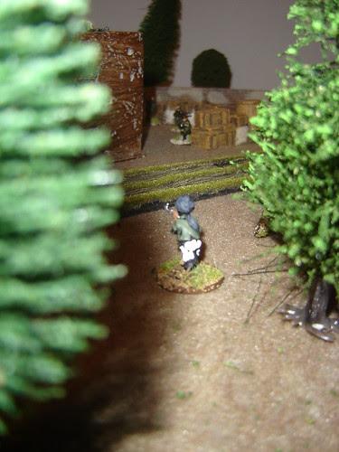British behind barricade react quickly