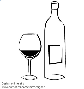 Wine Glass And Bottle Vector Graphic Online Design Software