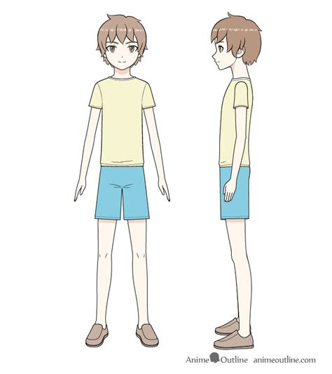 draw  anime boy full body step  step animeoutline