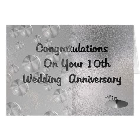 10th Wedding Anniversary Greeting Card   Zazzle