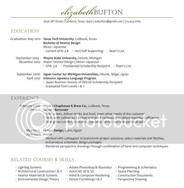 Elizabeth Bufton My Resume