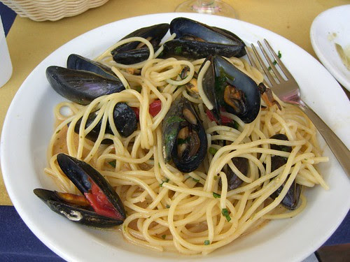 Spaghetti with cozze