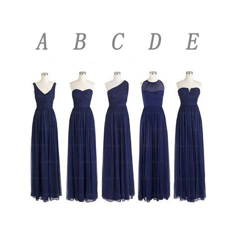 Navy blue bridesmaid dresses, long bridesmaid dresses