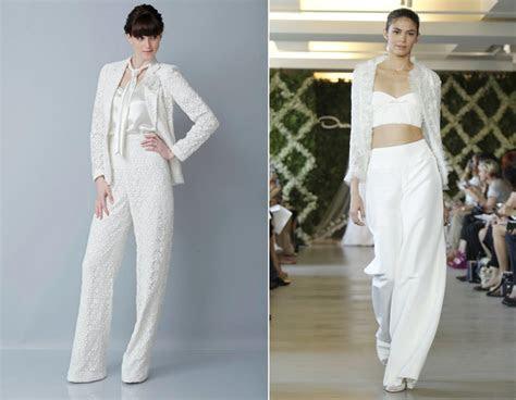 wedding dress trends bridal pants suit onewedcom