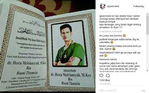 tepat  hari meninggalnya ryan dr oz indonesia