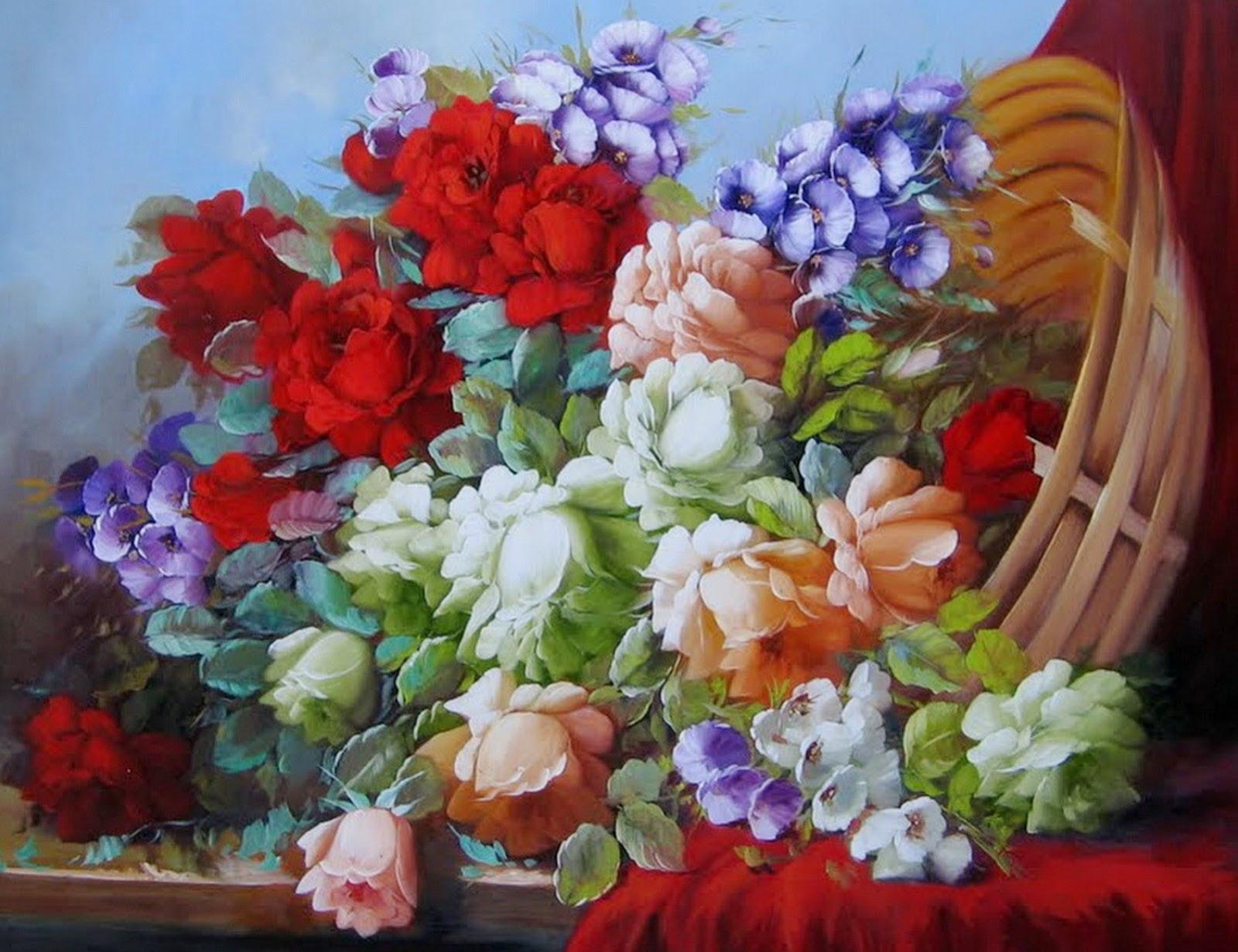 Flores Para Pintar Cuadros Al Oleo Creaciones Sancho Nuevos