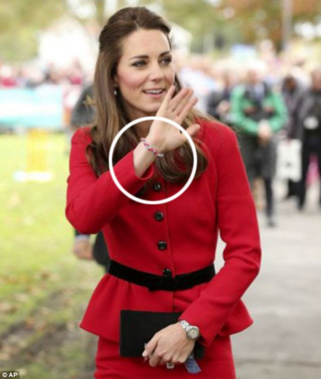 Popular: The bracelets have a growing following among celebrities and sales rocketed after the Duchess of Cambridge was seen wearing one
