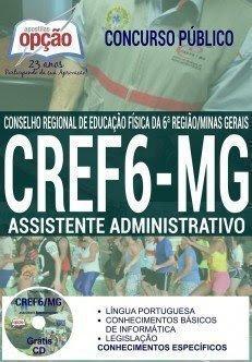 Apostila Concurso CREF 6ª Região MG 2016 Assistente Administrativo