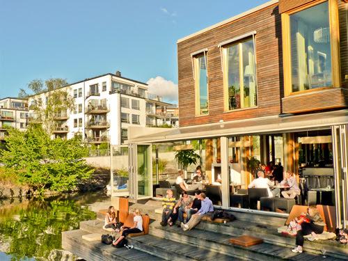 Hammarby Sjöstad development in Stockholm Sweden