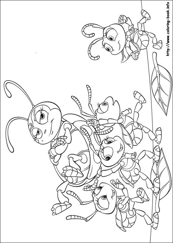 A Bugs Life Coloring Picture