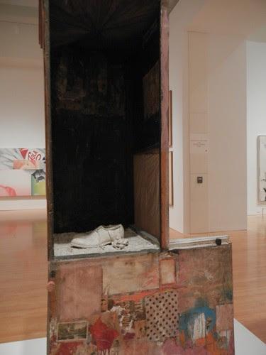 DSCN8750 _ Untitled, c. 1954, Oil, pencil, crayon, paper, canvas, fabric, wood, glass, mirror, etc., Robert Rauschenberg (1925-2008), MOCA