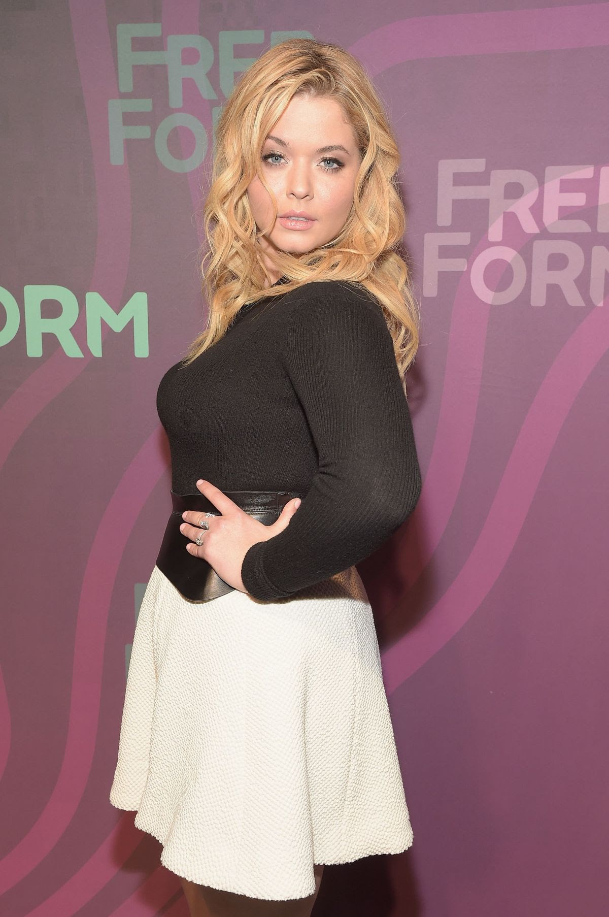 SASHA PIETERSE at 2016 ABC Freeform Upfront in New York 04/07/2016