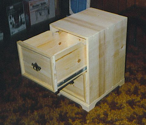 Wooden 2 Drawer Wood