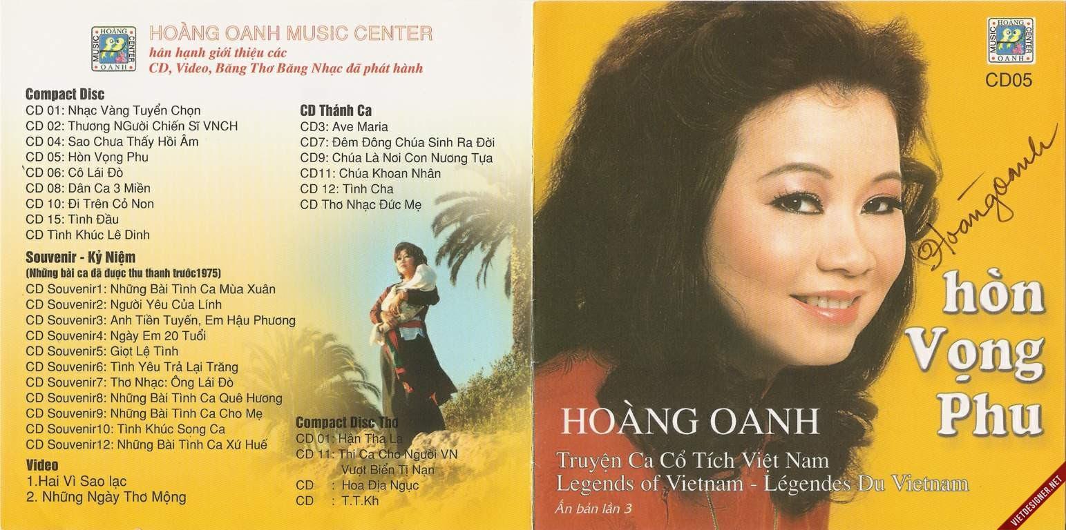 Kết quả hình ảnh cho Hoàng Oanh – Hòn Vọng Phu (1991) [FLAC] {Hoang Oanh CD}
