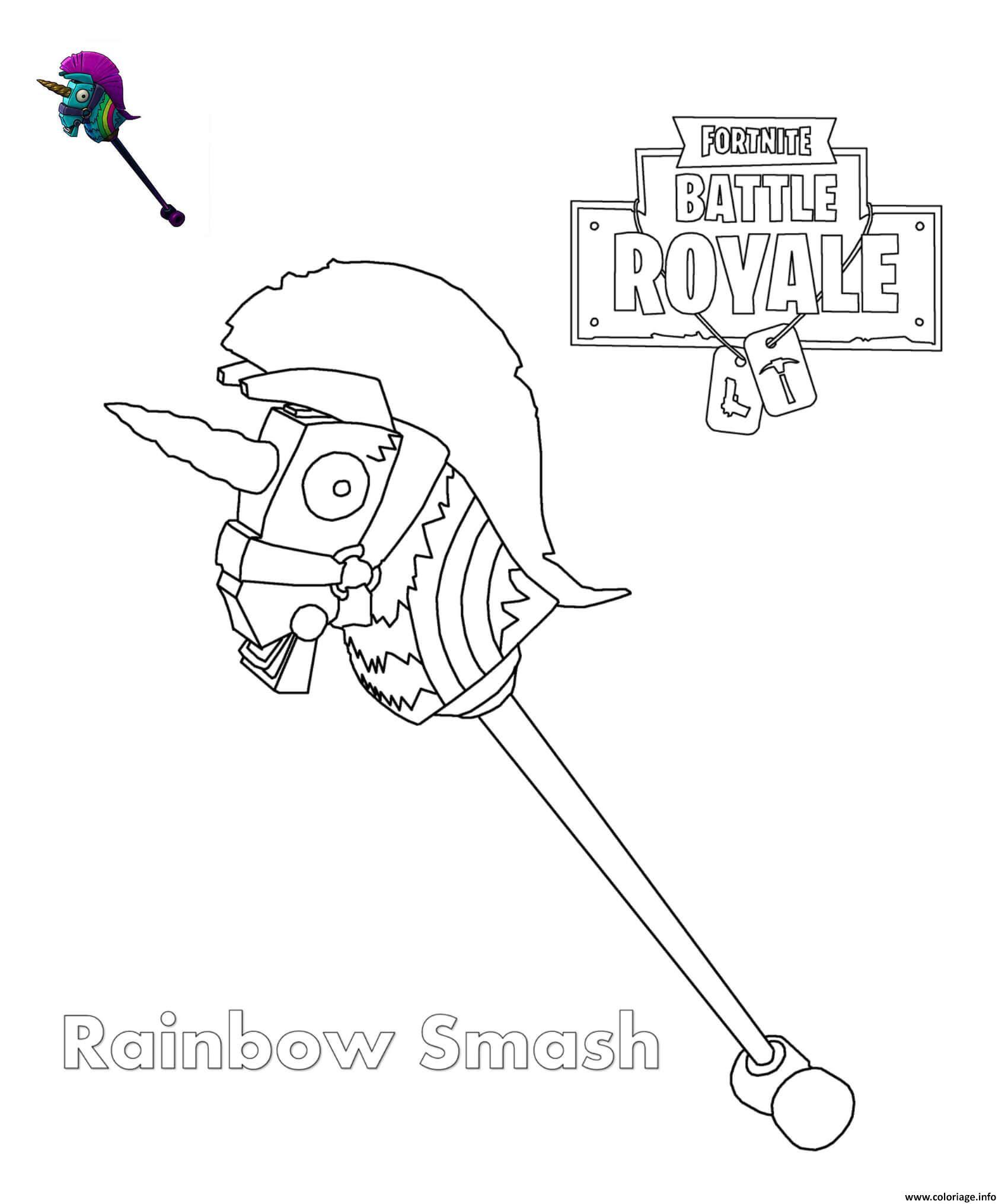 Coloriage Rainbow Smash Fortnite Jecoloriecom