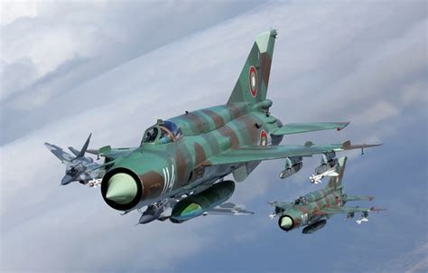 Wallpaper fighters, The MiG 21, flight, The MiG 29 images