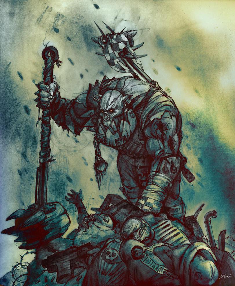 Warhammer 40k Ork Nob by Peter1punk
