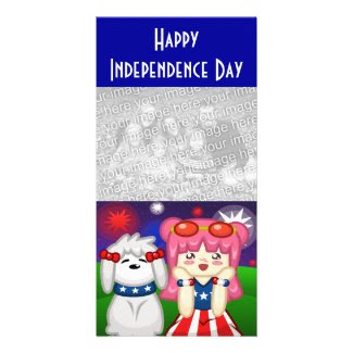 Fireworks Photo Card photocard