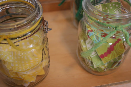 mustard jar.lime jar