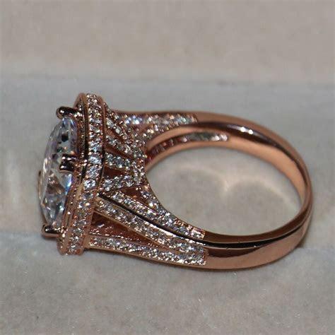SZ5 11 Luxury Jewelry 10CT 925 Silver AAA CZ Rose gold