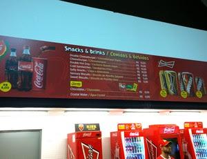 Preços de comida e bebida no Maracanã pra Copa (Foto: Thiago Barros)