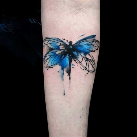 pin catherine utter tattoos watercolor dragonfly
